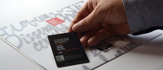 Carnet co.legi oficial disseny gràfic catalunya