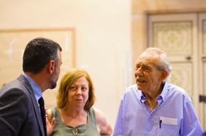 Santi Vila, conseller de Cultura, Sra. Amèrica Planas i Sr. Enric Huguet