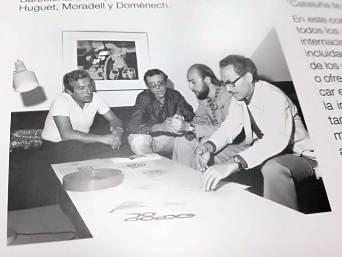 fotografia del llibre, pag 42: Baqués, Huguet, Moradella i Domènech